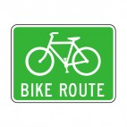 Bike route sign, decals stickers