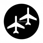 Airplane boarding sign , decals stickers