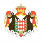 Blason de Monaco, decals stickers