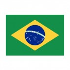 Brazil flag, decals stickers