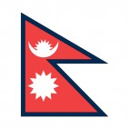 Nepal flag, decals stickers