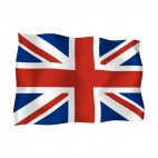 United Kingdom waving flag, decals stickers