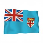 Fiji Islands waving flag, decals stickers