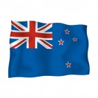 New Zealand waving flag, decals stickers