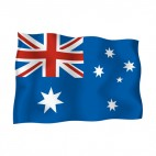 Australia waving flag, decals stickers
