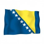 Bosnia and Herzegovina flag, decals stickers