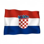 Croatia waving flag, decals stickers