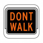Dont walk sign, decals stickers