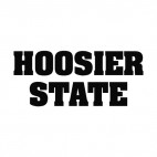 Hoosier state Indiana state, decals stickers