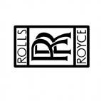 Rolls Royce logo, decals stickers