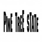 Pine tree state Maine state, decals stickers