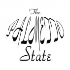 The palmetto state South Carolina state, decals stickers