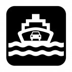 Water transportation sign, decals stickers