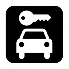 Car rental sign, decals stickers