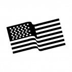 United States waving flag, decals stickers