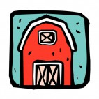 Red barn, decals stickers