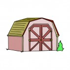 Pink and brown shed, decals stickers
