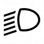 Car high beam indirect sign, decals stickers