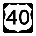 Route 40 sign, decals stickers