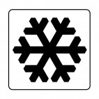 Snow sign, decals stickers