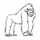 Gorilla standing on his arms, decals stickers