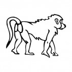 Baboon walking, decals stickers