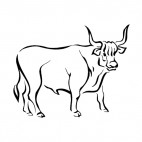 Bull, decals stickers