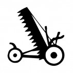 Agriculture equipment, decals stickers