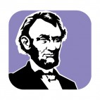 United States Abraham Lincoln, decals stickers
