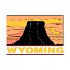 Wyoming state, decals stickers