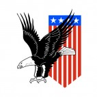United States Eagle and US pennant, decals stickers