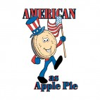 United States American as Apple Pie, decals stickers