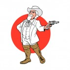 United States Buffalo Bill Cody with gun, decals stickers