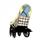 Covered Wagon, decals stickers
