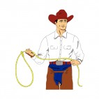 Cowboy with lasso, decals stickers
