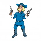 United States Custer with guns, decals stickers