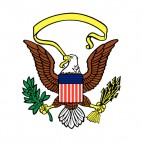 United States eagle logo, decals stickers