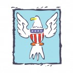 United States Eagle logo sketch, decals stickers
