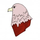 Eagle head, decals stickers