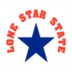 Lone Star State Texas State, decals stickers