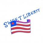 United States Sweet liberty, decals stickers
