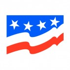 United States flag 4 stars, decals stickers
