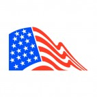 United States flag drawing, decals stickers