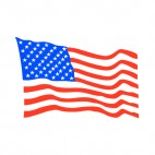 United States flag waving drawing, decals stickers