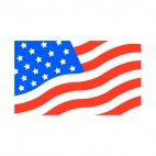 United States flag close up, decals stickers