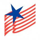 United States flag blue star with red stripes, decals stickers
