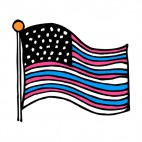 United States flag blue and red stripes, decals stickers