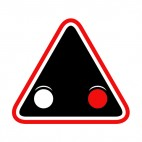 Railroad crossing lights warning sign, decals stickers