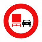 Give priority to trucks sign , decals stickers