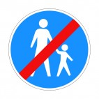 No pedestrian crossing allowed sign, decals stickers